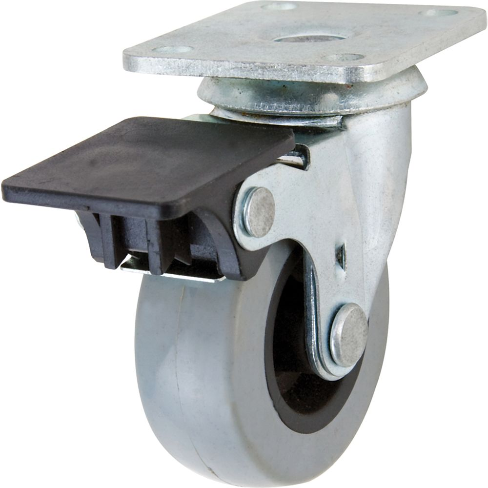 Everbilt 2 inch TPR Swivel Caster with 88 lb. Load Rating and Brake