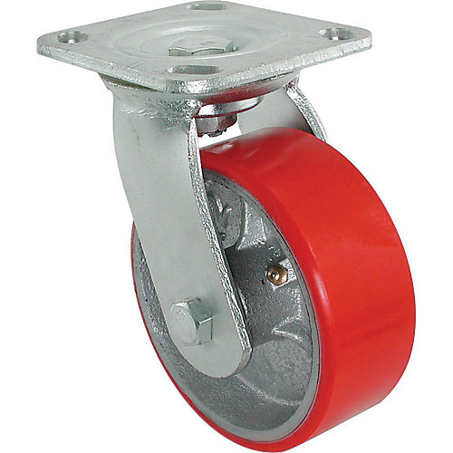 4 inch x 2 inch Swivel Heavy Duty Mold On Polyurethane Caster with 700 lb. Load Rating