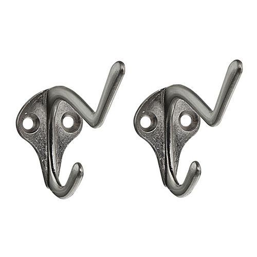 Utility Single Hook - Brushed Nickel