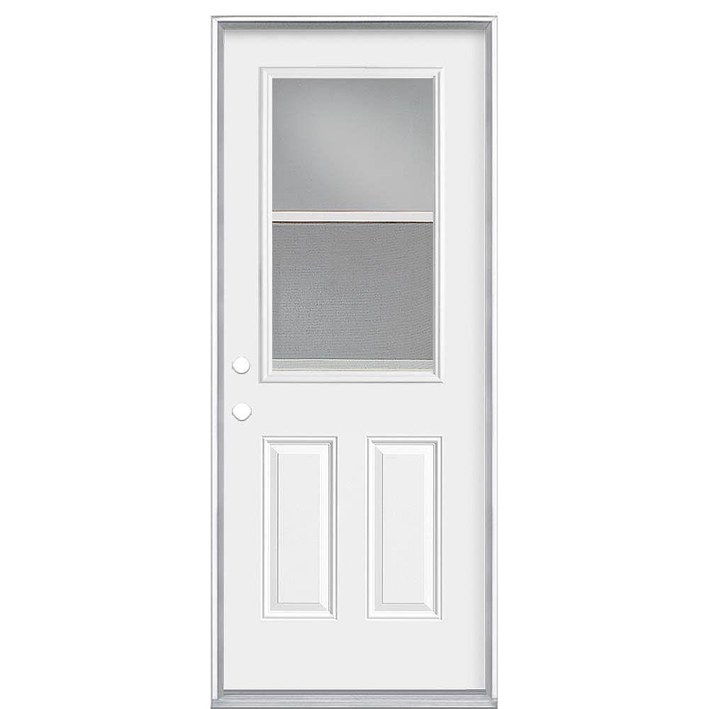 Masonite Porte droite de 36 pouces x 80 x 4 9/16 pouces à ventilation 1/2-Lite Low-E - Energy Star