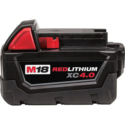 Milwaukee Tool M18 18V Lithium-Ion Extended Capacity (XC) 4.0 Ah REDLITHIUM Battery Pack