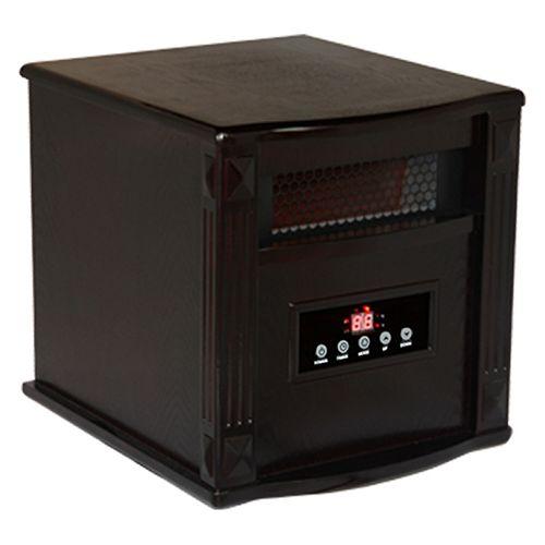 Titanium Portable Infrared Heater - Built-In Air Purifier W/UV-C & TIO2 - Espresso