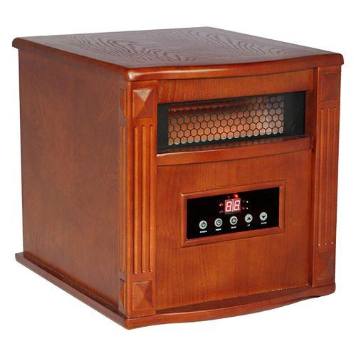 Titanium Portable Infrared Heater  - Built-In Air Purifier W/UV-C & TIO2 - Tuscan
