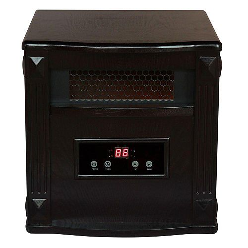 Gold Portable Infrared Heater  - Espresso