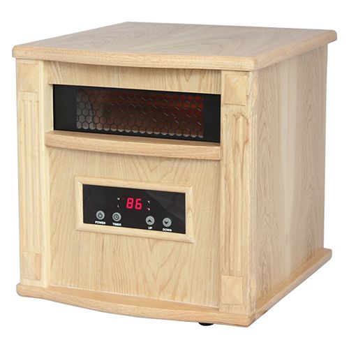 Gold Portable Infrared Heater  - Oak