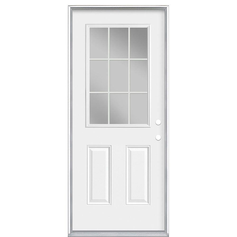 Masonite 34-inch x 80-inch x 7-1/4-inch 9-Lite Internal Low-E Left Hand Door