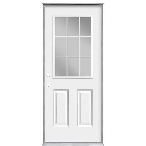 Masonite 34-inch x 80-inch x 7-1/4-inch 9-Lite Internal Low-E Right Hand Door