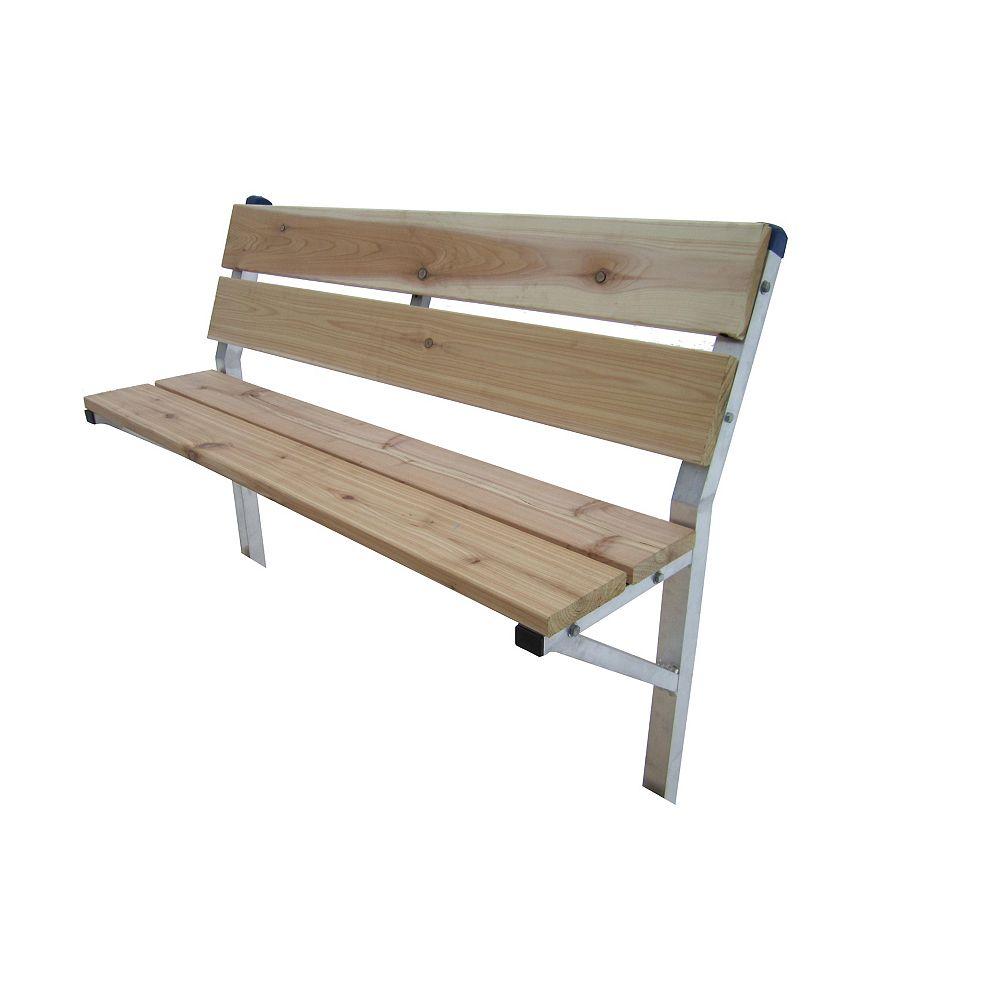 Patriot Docks 48-inch Cedar Dock Bench Kit with Galvanized Steel Framing Supports