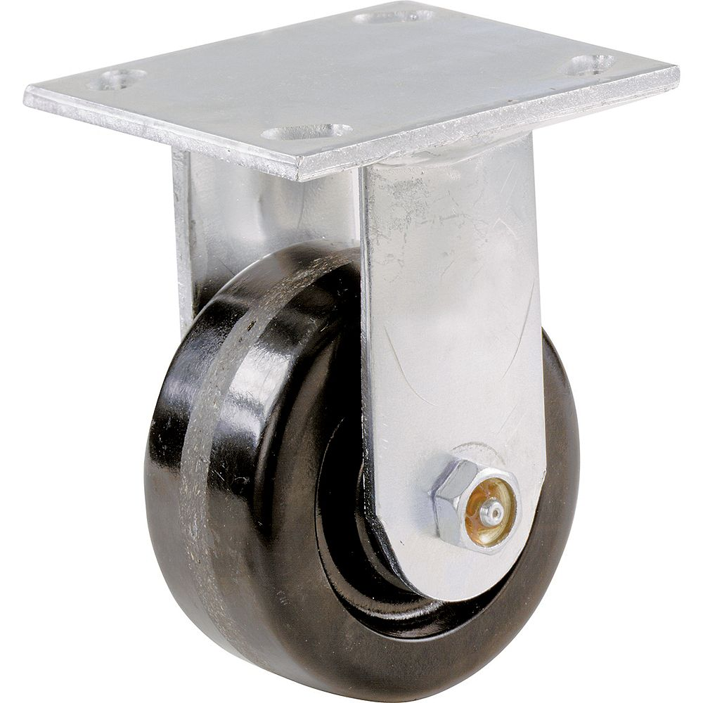 Everbilt 4 inch x 2 inch Rigid Heavy Duty Caster with 500 lb. Load Rating
