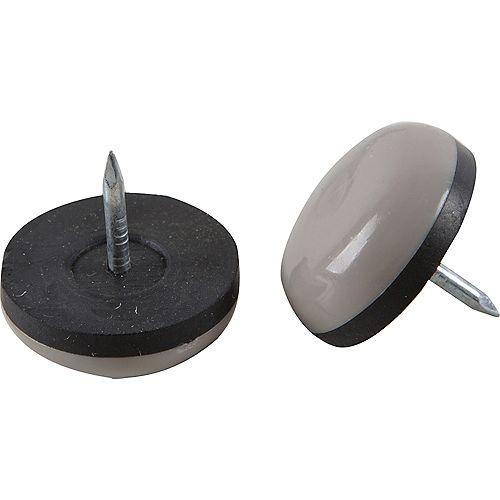 7/8 inch Slide Glide Nail On Furniture Sliders, (8-Pack)