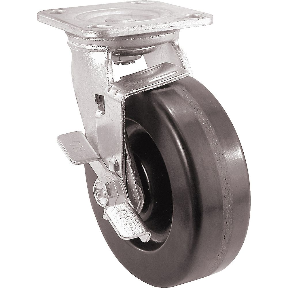 Everbilt 4 inch Swivel Plate Caster with Phenolic Rubber