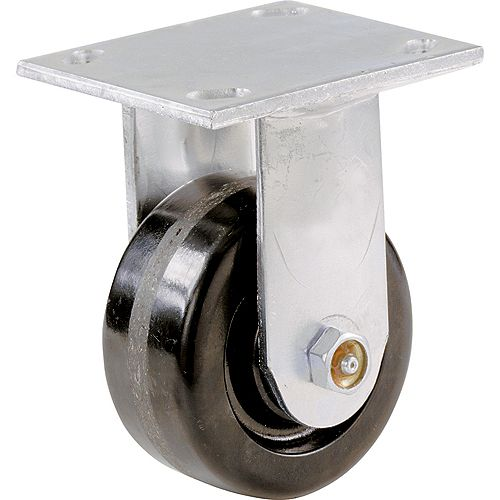 Everbilt 1400-Series 6 inch Phenolic Rigid Plate Caster, 840-lb Load Capacity