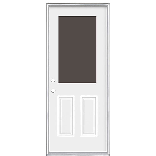 32-inch x 4 9/16-inch 1/2-Lite Cutout Right Hand Door - ENERGY STAR®