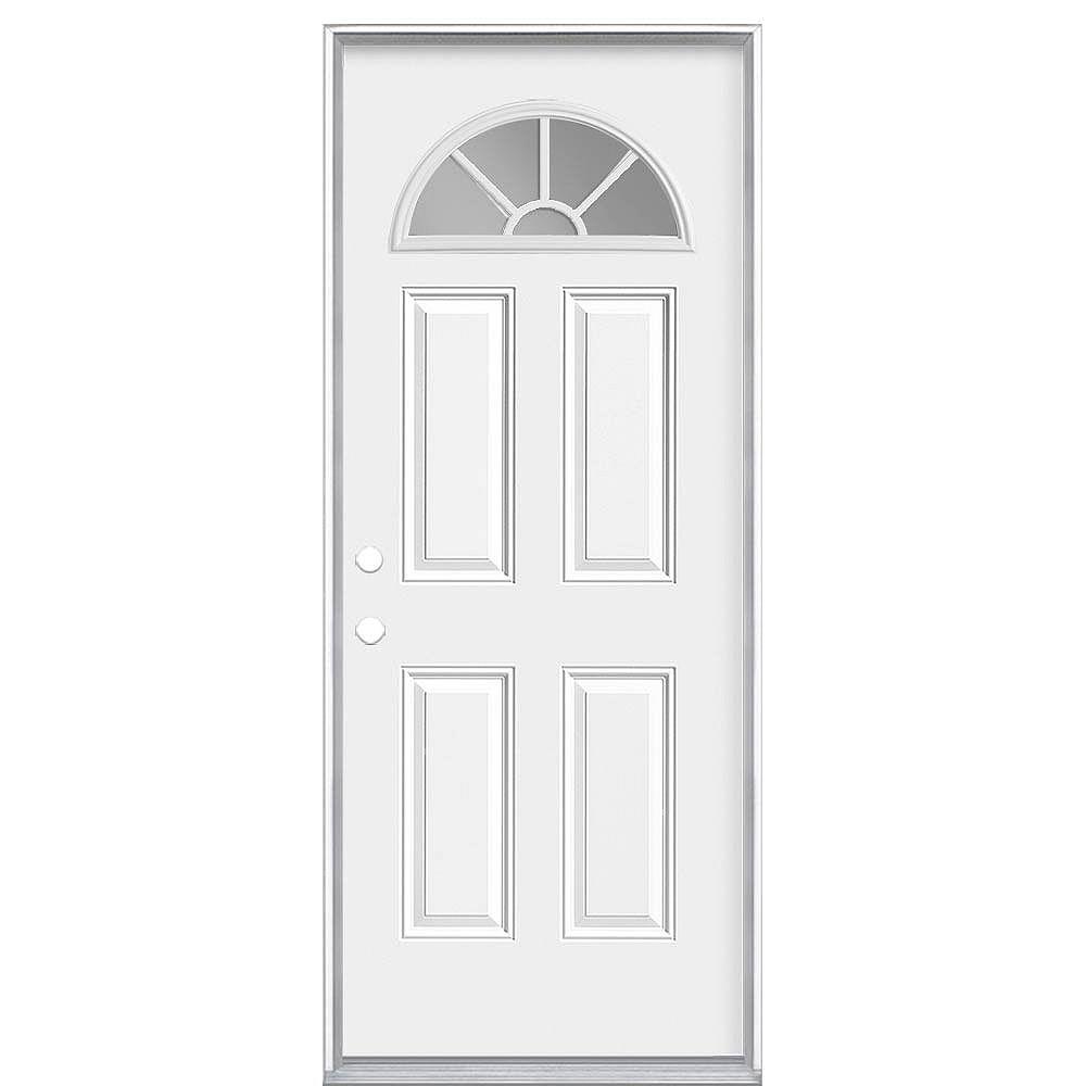 Masonite 36-inch x 80-inch x 6-9/16-inch Fan Lite Internal Grille Right Hand Door