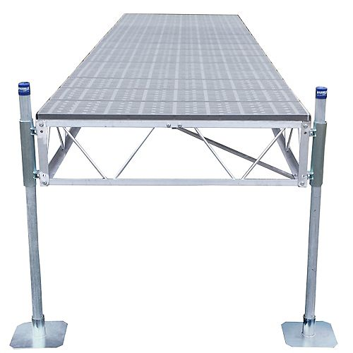 16 ft. Straight Dock with Poly Decking