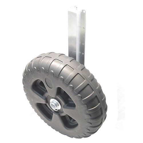 15-inch Extending Aluminum Dock Jack with Bolt-On Axle and 23-inch Poly Dock Wheel