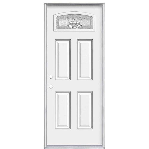 Masonite 32-inch x 80-inch x 6 9/16-inch Providence Camber Fan Right Hand Door - Energy Star