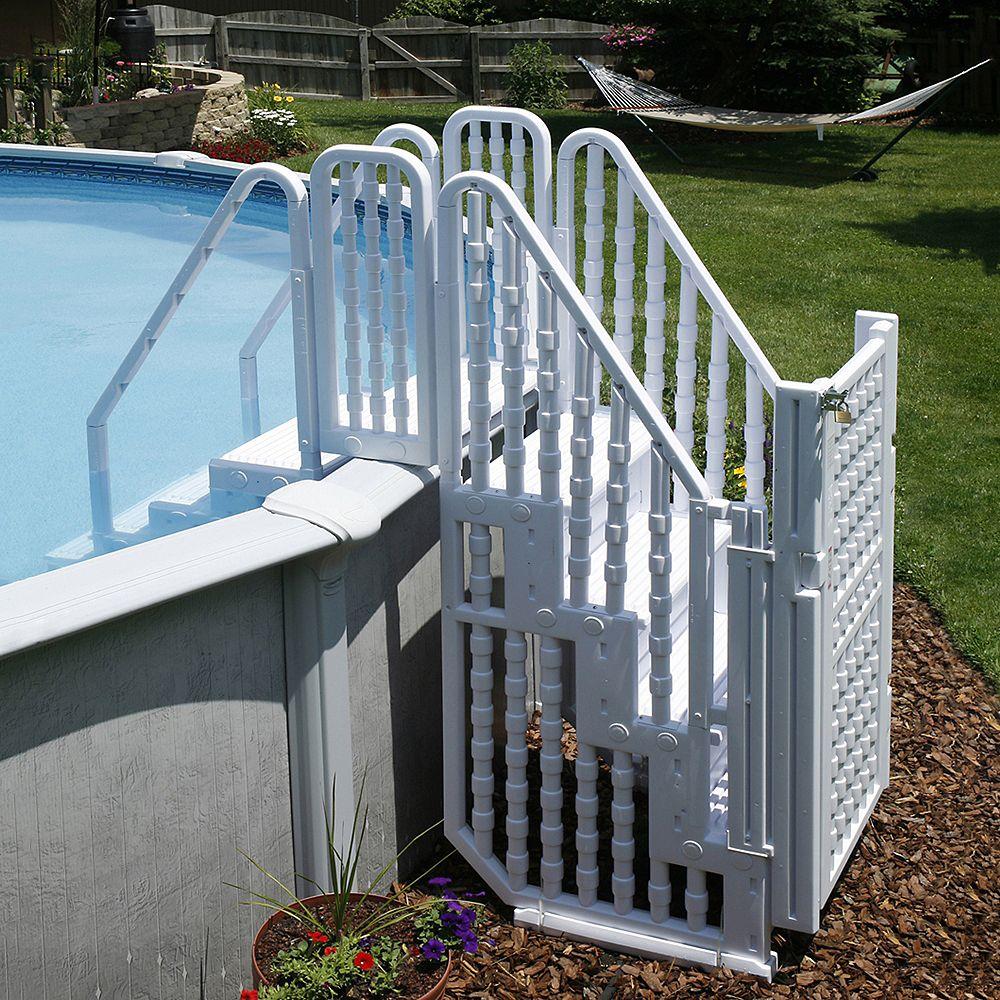 Blue Wave Système d'accès pour piscine Easy Pool Step avec porte