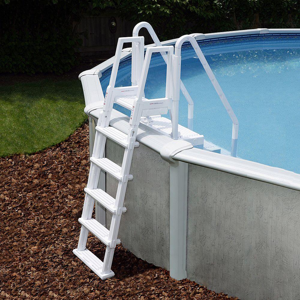 Blue Wave Marches Easy Pool Step avec échelle extérieure pour piscines hors-terre