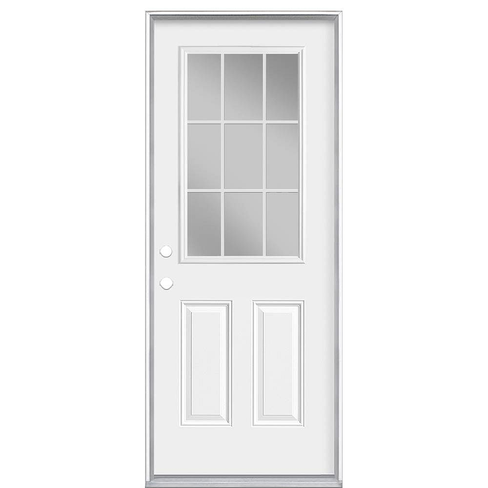 Masonite 36-inch x 80-inch x 4 9/16-inch 9-Lite Internal Low-E Right Hand Door - Energy Star