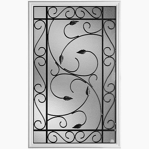 22-inch x 36-inch Pergola Iron Glass Insert