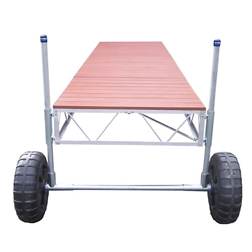 32 ft. Straight Roll-in Dock with Aluminum Decking