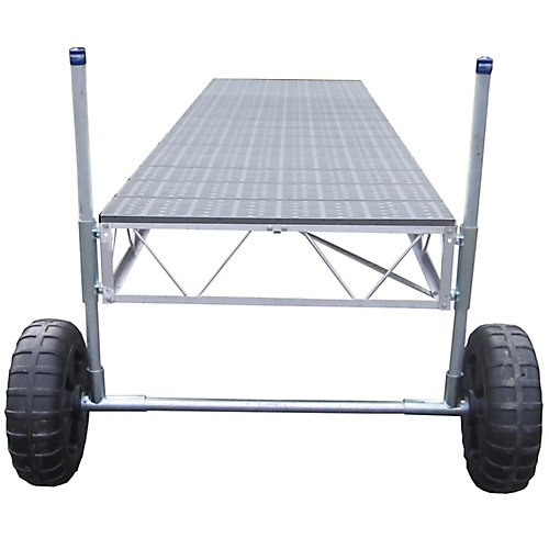 40 ft. Straight Roll-in Dock with Poly Decking