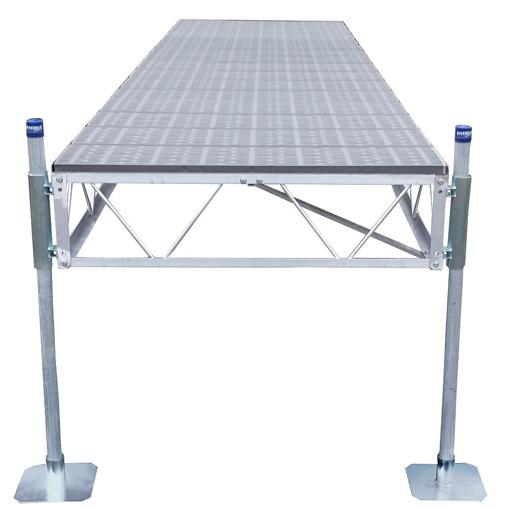 Patriot Docks 40 ft. Straight Dock with Poly Decking
