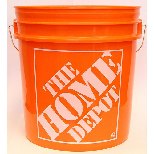 8L / 2 gallons d'Orange Home Depot Seau Logo'ed