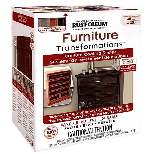 Rust-Oleum Kit de base teinte foncée Transformations de meubles, 1,72 L (couvre jusqu'à 35 pi. ca.)