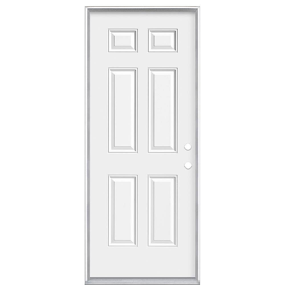 Masonite 34-inch x 80 x 7 1/4-inch 6-Panel Endurance Left Hand Door - Energy Star