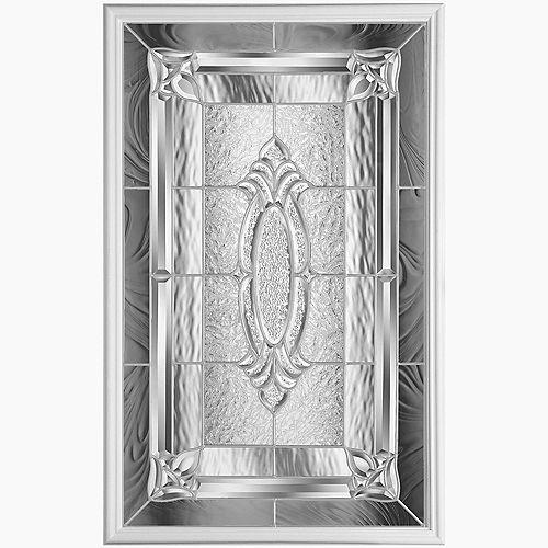 22-inch x 36-inch Providence Nickel Glass Insert