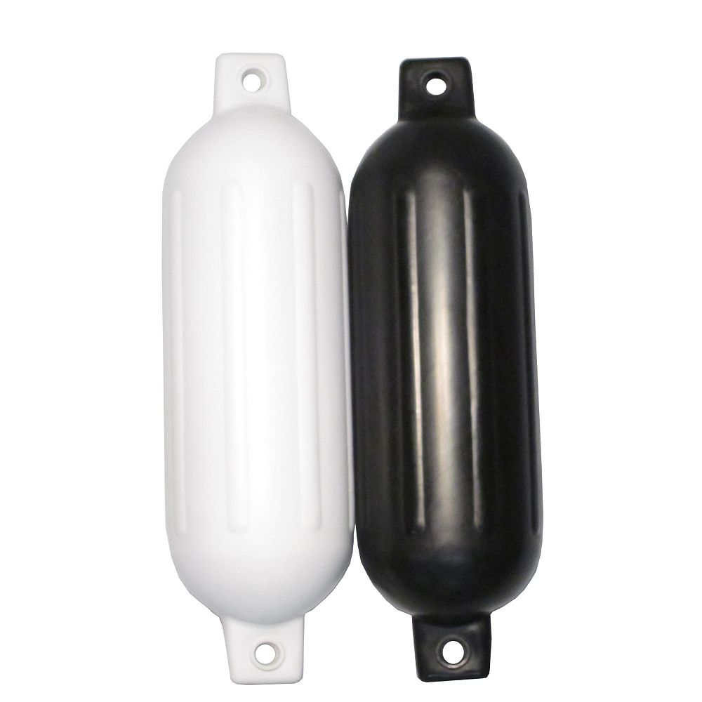 Patriot Docks Inflatable Twin Eye Fender 6.5x23 Inches  Blk