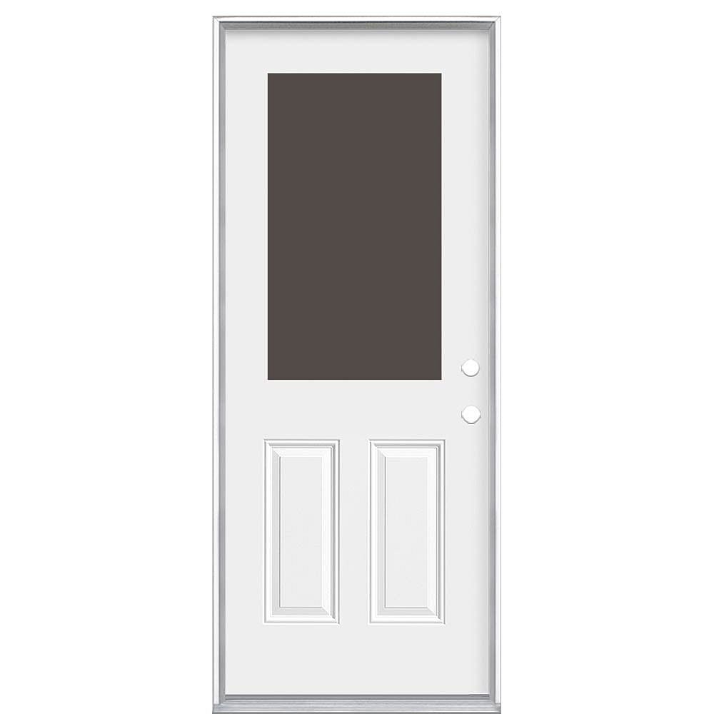 Masonite 32-inch x 80-inch x 4 9/16-inch 1/2-Lite Cutout Left Hand Door