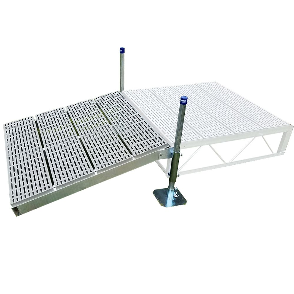 Patriot Docks 4 ft. x 4 ft. Shore Ramp Kit with Poly Decking