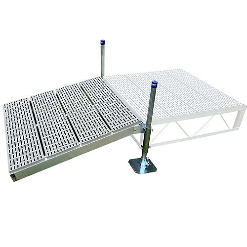 4 ft. x 4 ft. Shore Ramp Kit with Poly Decking