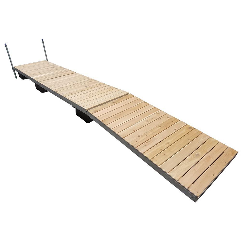 Patriot Docks 24 ft. Low Profile Floating Dock with Cedar Decking