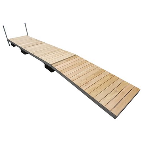 24 ft. Low Profile Floating Dock with Cedar Decking