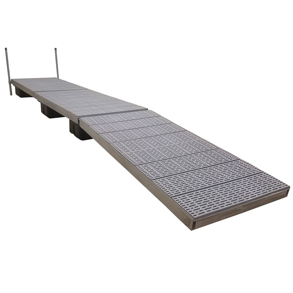 Patriot Docks 24 ft. Low Profile Floating Dock with Poly Decking