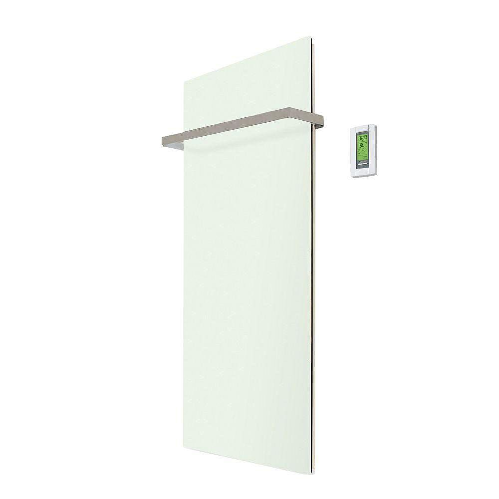 WarmlyYours Lava Glass White Green Kit: Includes 500W Radiant Panel, Thermostat and One Lava Bar Flat (35 Inch X 25 Inch) 120V C/Ul Listed