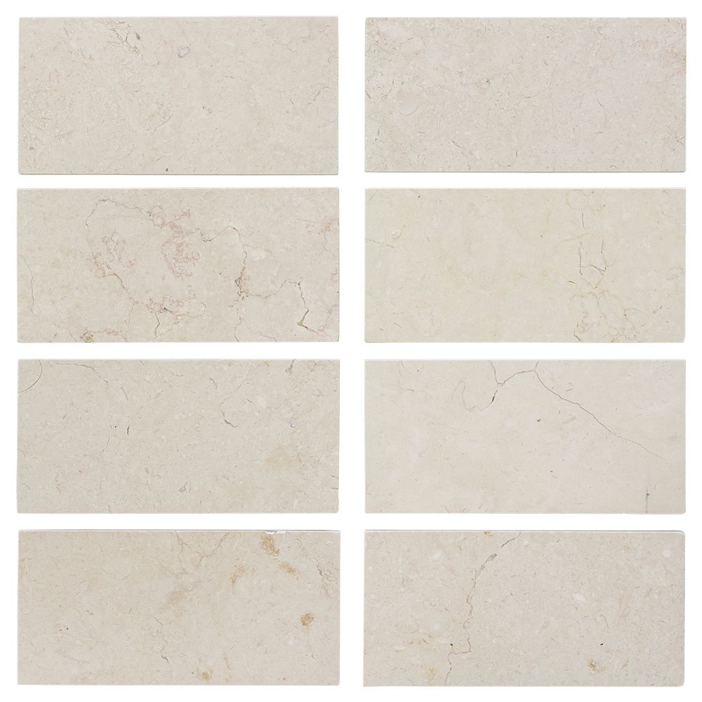Jeffrey Court Creama 6-inch x 3-inch Honed Marble Floor/Wall Tile (8-Pack)