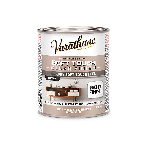 Premium Diamond Wood Finish For Interior, Water-Based In Matte Clear, 946 mL