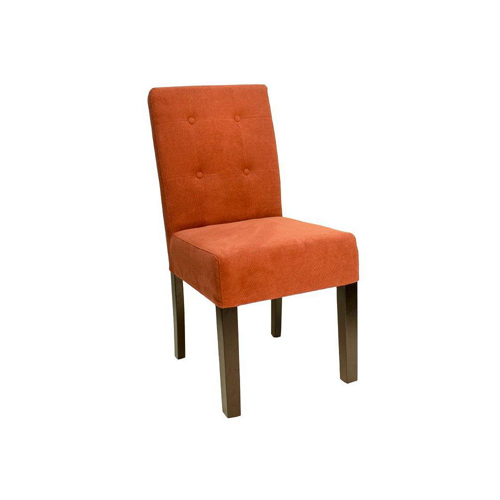Office Star Franklin Button Chair In Finesse Cranapple