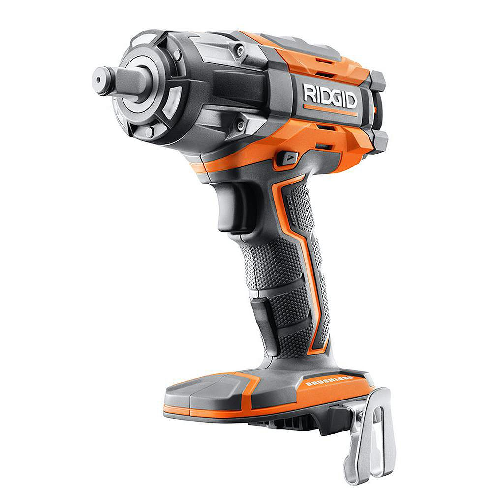 RIDGID 18V OCTANE Cordless Brushless 1/2-inch Impact Wrench (Tool Only) with Belt Clip