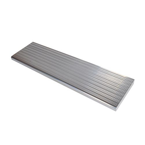 Collection 10 - Aluminium Stair Tread Shiny Anodised - 42 in x 9 ¾ in