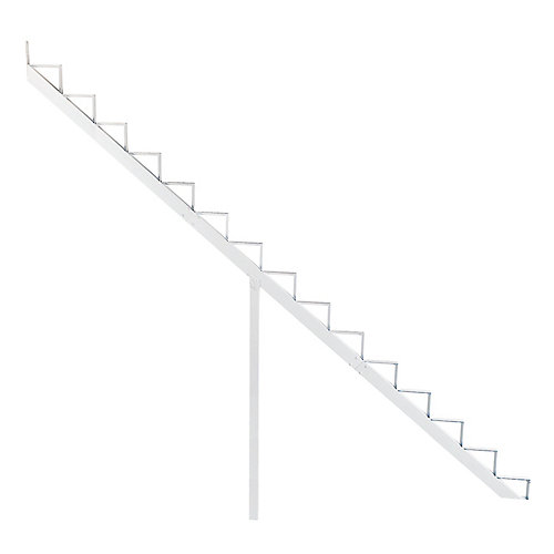 Collection 10_15 Steps Aluminium Stair Riser White_7 1/2 in x 9 1/16 in Includes one (1) riser only