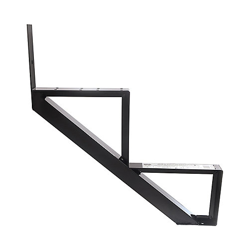 Collection 10_2 Steps Aluminium Stair Riser Black_7 1/2 in x 9 1/16 in Includes one (1) riser only
