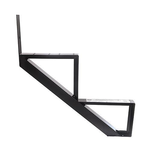 Collection 10 - 2 Steps Aluminium Stair Riser Black 7 1/2 in x 9 1/16 in Includes one (1) riser only