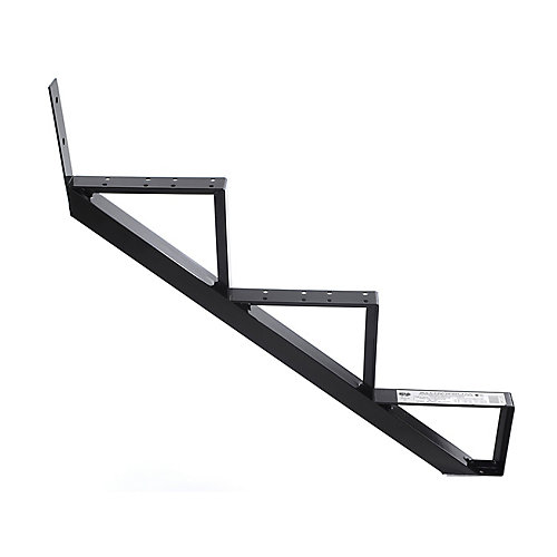 Collection 10_3 Steps Aluminium Stair Riser Black_7 1/2 in x 9 1/16 in Includes one (1) riser only