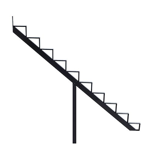 Collection 10 - 10 Steps Aluminium Stair Riser Black 7 1/2 in x 9 1/16 in Includes one (1) riser only
